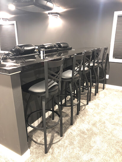 Holland's Catalina 820 36 Inch Seat Height Bar Stools in Black in Entertainment Room