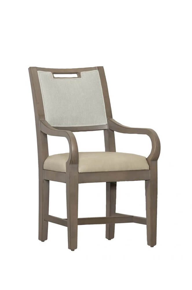 Reece Upholstered Wood Dining Arm Chair