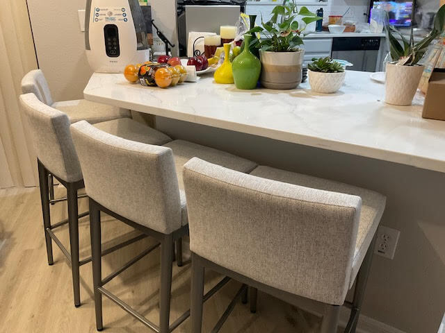 Amisco's Hanson Modern Bar Stool with Low Back in Silver