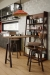 Amisco's Architect Swivel Counter Stool in Industrial Kitchen with Wood and Metal