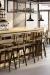Amisco Architect Swivel Stools in Modern Bar