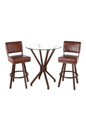 Malibu 3-Piece Pub Set with Two Bar Stools