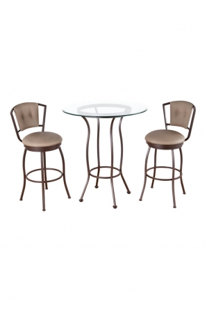 Bristol Pub Table with Two Bristol Swivel Bar Stools
