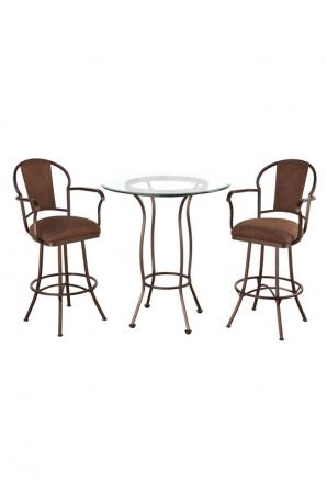 Charleston Pub Table with Two Swivel Bar Stools