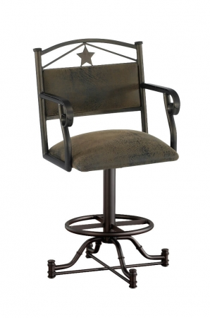 Callee's Texas Swivel Barstool with Arms