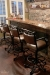 Callee's Texas Tilt Swivel Bar Stools with Arms and Star Shape Back - in Traditional Mancave