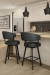 Amisco's Grissom Swivel Barstools in Modern Kitchen