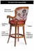 Features of the Melrose Swivel Barstool (backside) by Fairfield Chair Company