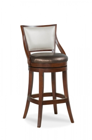 Fairfield Chair's Conley Wooden Swivel Barstool with Back