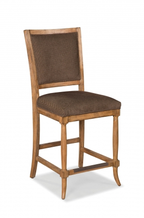 Fairfield's Burke Wooden Bistro Stool with Square Seat
