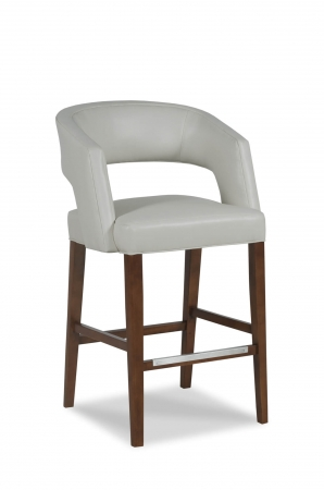 Fairfield's Bryant Wooden Bar Stool with Barrel-Shaped Back