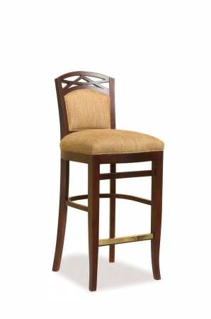 Fairfield's Lewiston Wooden Bar Stool with Low Backrest
