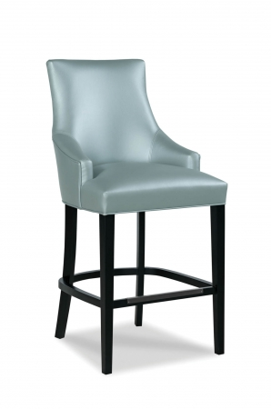 Fairfield's Ashton Wooden Bar Stool with Arms in Vinyl Cushion