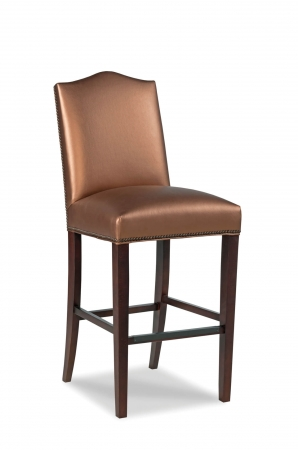 Fairfield's Haines Wooden Bar Stool with Nailhead Trim