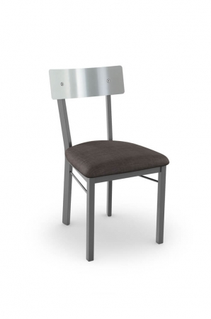 Amisco's Lauren Side Chair with Stainless Steel Backrest and Metal Frame