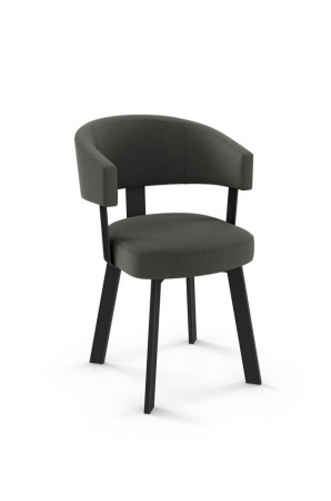 Amisco's Grissom Upholstered Dining Chair with Arms and Curved Backrest