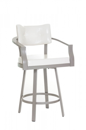 Amisco's Jonas Wide Bar Stool with Arms