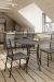 Amisco Crescent Bar Stools and Chairs in Modern Industrial Kitchen