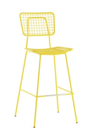 Grand Rapids - Opla Outdoor Bar Stool in Yellow