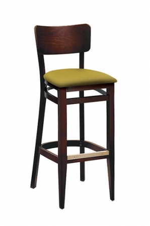 Molly Wooden Bar Stool W Seat Cushion Multiple Finishes