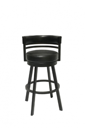 Callee's Ambridge Swivel Counter Stool with Curved Back in Black