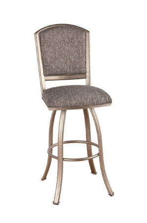 Callee / Tempo's Dunhill Swivel Bar Stool with Upholstered Seat and Back