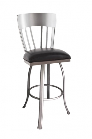 Callee's Indiana Swivel Bar Stool with Shiny Metal Finish
