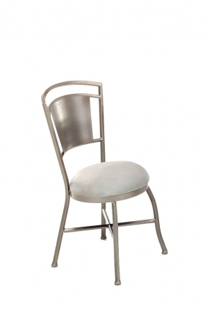 Callee's Bristol Dining Chair, Non-Swivel, With Round Seat Cushion and Metal Frame