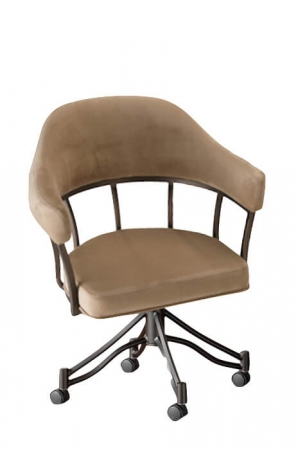 Callee's London Tilt Swivel Dining Chair with Padded Arms