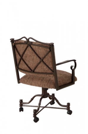 Callee's Salima Tilt Swivel Dining Chair with Arms and Cross Back Design
