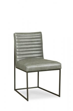 Fairfield Chair's Uma Metal Modern Side Chair with Channeled Cushion