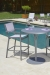 Woodard's Palm Coast Outdoor Bar Stools with Pub Table by Pool