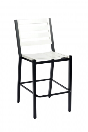 "Woodard's Palm Coast Outdoor Slat Back Bar Stool 30"", No Arms"