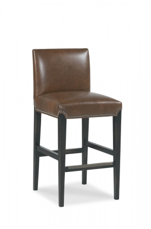 Fairfield's Roxanne Wooden Bar Stool with Upholstered Back and Seat