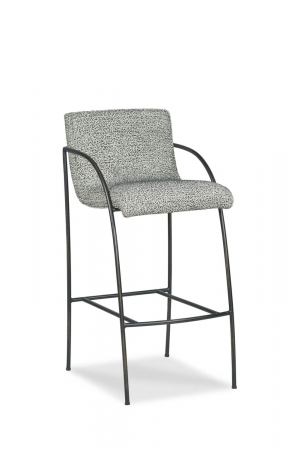 Fairfield Chair's Greta Modern Upholstered Bar Stool with Arms
