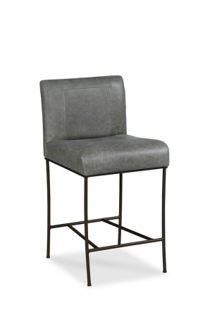 Fairfield's Appollo Transitional Metal Bar Stool with Upholstered Back and Seat
