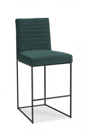 Fairfield's Uma Modern Bar Stool with Channel Quilting on Backrest and Seat