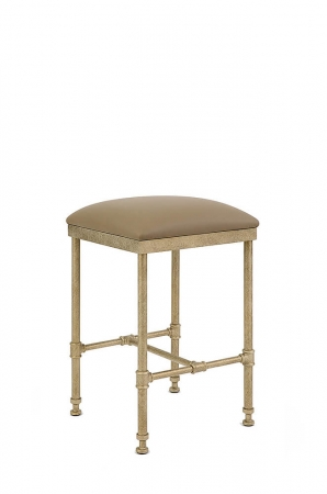 Wesley Allen's Syracuse Square Backless Stool with Seat Cushion