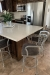 Wesley Allen's Boston Kitchen Counter Barstools in Silver