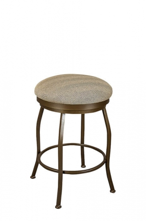 Wesley Allen's Berkeley Backless Swivel Barstool with Round Seat Cushion