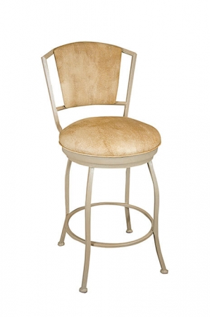 Wesley Allen's Boise Swivel Bar Stool with Padded Back and Seat