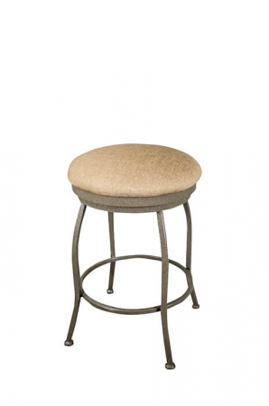 Wesley Allen's Boise Backless Swivel Bar Stool with Round Seat Cushion