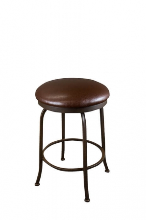 Wesley Allen's Boston Backless Swivel Bar Stool with Round Seat Cushion