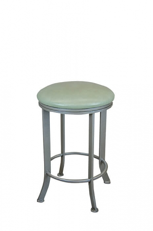 Wesley Allen's Charlotte Backless Swivel Bar Stool with Round Seat Cushion