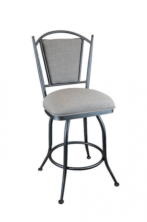 Wesley Allen's Durham Swivel Bar Stool with Upholstered Seat and Back Cushion