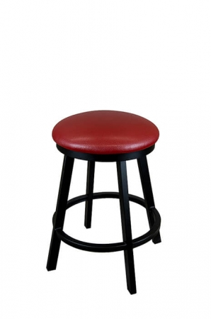 Wesley Allen's Edmonton Backless Swivel Bar Stool with Round Seat Cushion