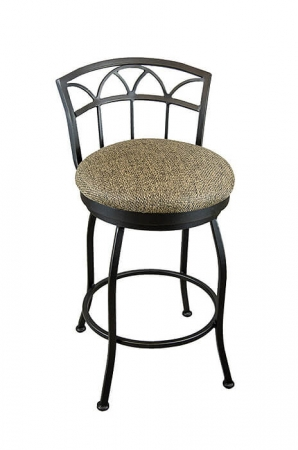 Wesley Allen's Fresno Swivel Bar Stool with Low Backrest and Round Seat Cushion