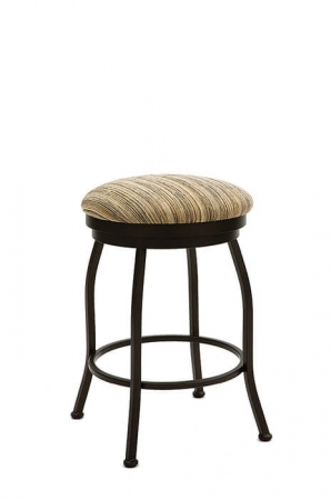 Wesley Allen's Fresno Backless Swivel Bar Stool with Round Seat Cushion
