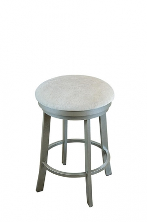 Wesley Allen's Hayward Backless Swivel Bar Stool with Round Seat Cushion