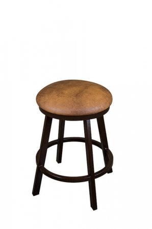 Wesley Allen's Miami Backless Swivel Bar Stool with Round Seat Cushion